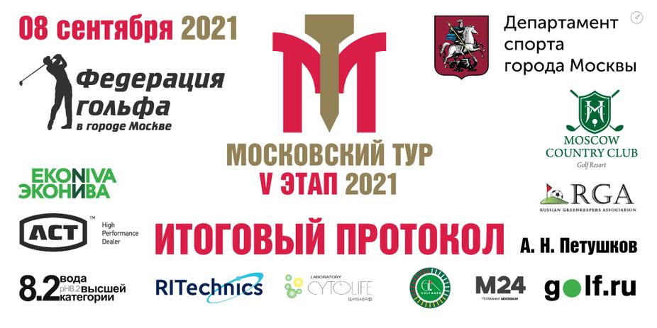 Итоги V этапа Московского тура по гольфу 2021