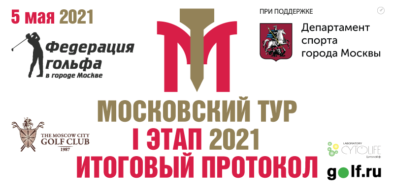 Итоги I этапа Московского тура по гольфу 2021 года