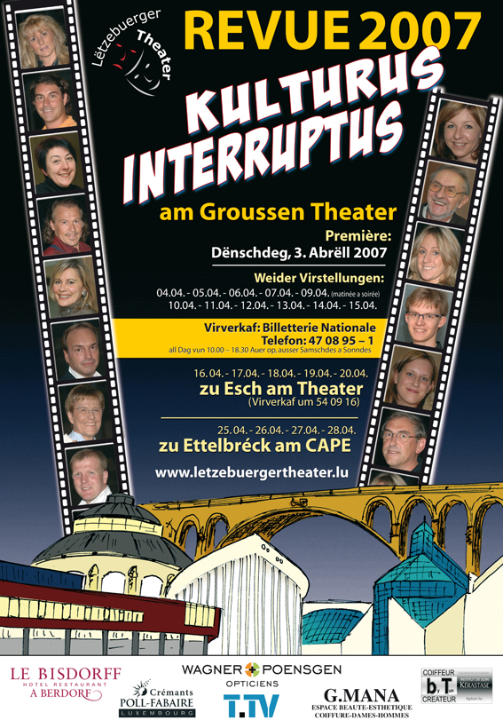 "affiche Lëtzebuerger Theater ""Revue"""