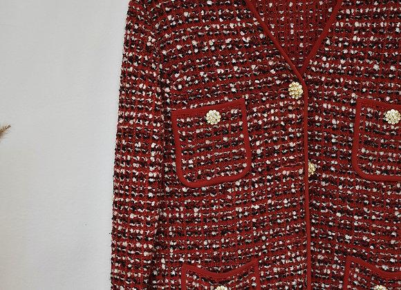 Veste tailleur rouge