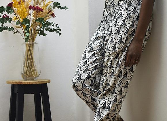 Pantalon à motif noir et blanc