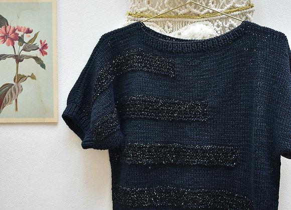 T-shirt pull bleu foncé