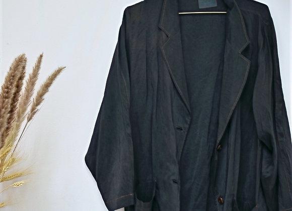 Veste en soie mauve foncée