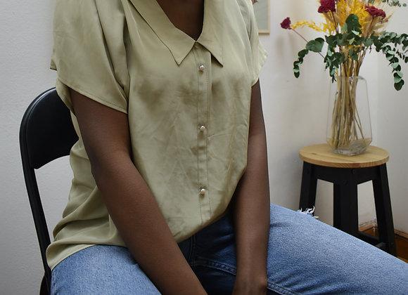 T-shirt blouse vert kaki