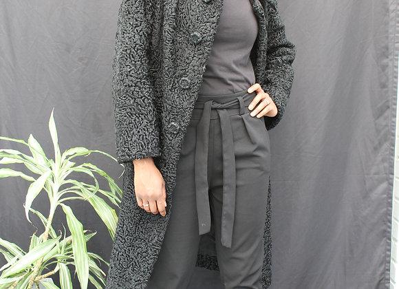 Manteau noir Astrakan