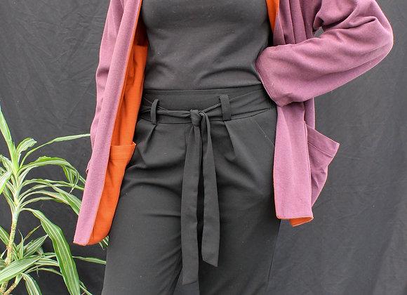 Veste réversible orange et mauve
