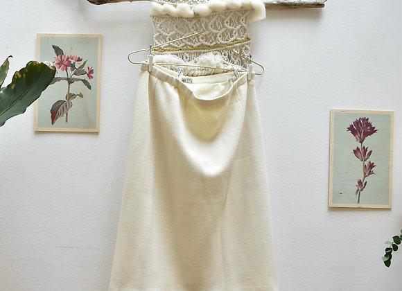 Jupe blanche épaisse