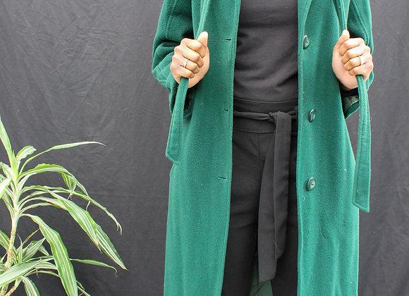 Manteau vert émeraude