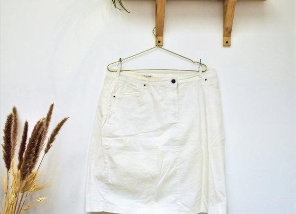 Jupe blanche coton