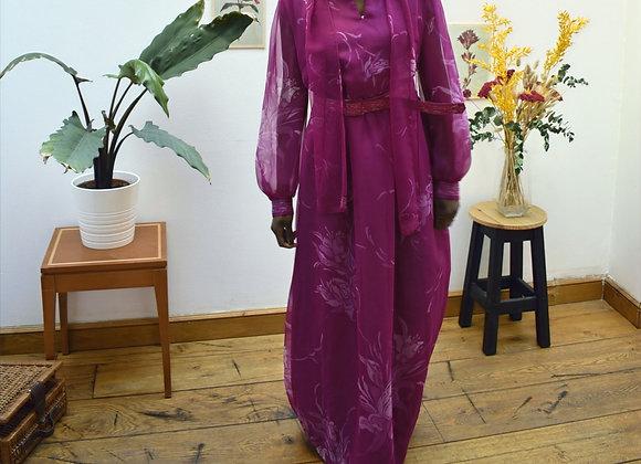 Robe rose longue