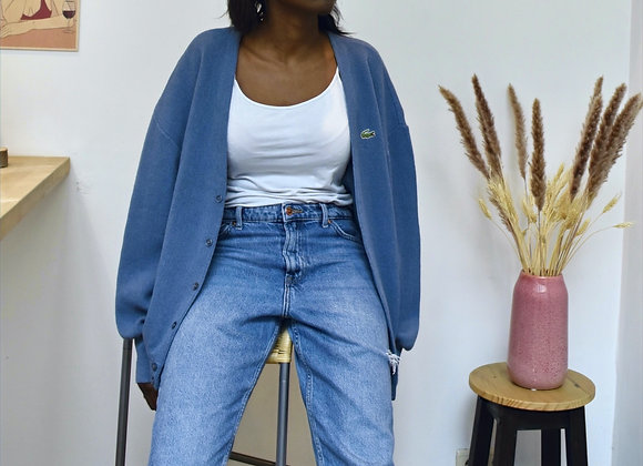 Cardigan bleu Lacoste