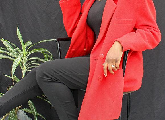 Veste rouge style blazer