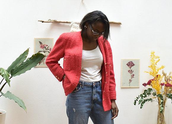 Veste de tailleur rose/rouge