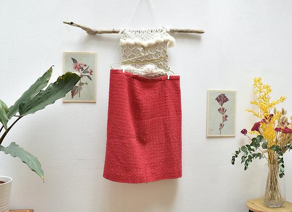 Jupe de tailleur rose/rouge