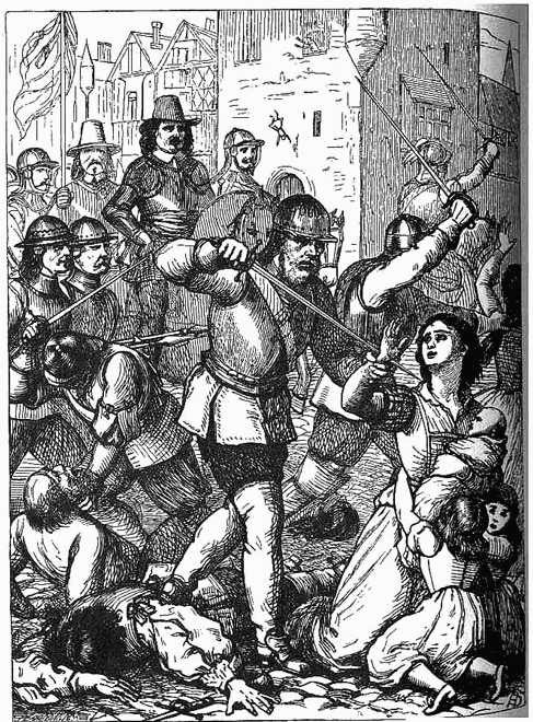 La Masacre de Drogheda, por Oliver Cromwell