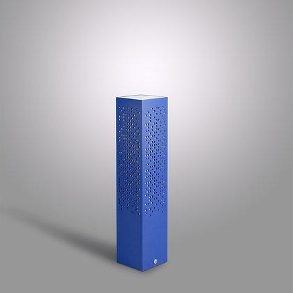 Невысокий уличный столбик Matrix OC-370 синего цвета с ЛЭД лампой