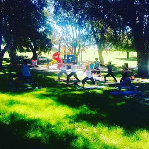 🍃Yoga under the peppermint trees 🍃_Thu