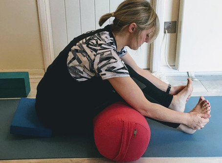 Yin Yoga with your bolster