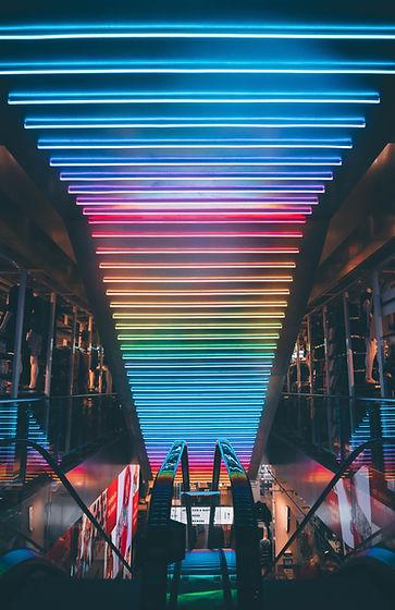 Luzes da cor do arco-íris