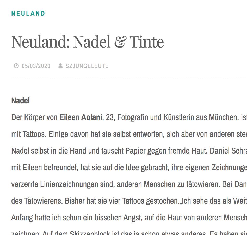 Neuland: Nadel & Tinte
