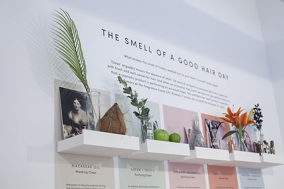 Scratch and sniff scented exhibition display