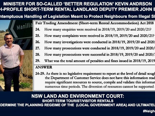 NSW STATE GOVERNMENT'S CONTEMPT FOR RESIDENTIAL PROPRIETARY RIGHTS