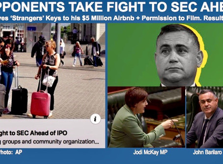 AIRBNB OPPONENTS TAKE FIGHT TO U.S. SECURITIES & EXCHANGE COMMISSION