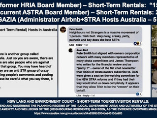 AIRBNB / SHORT-TERM RENTAL OPERATORS CONTINUE TO FUNCTION 'TRUE TO FORM'