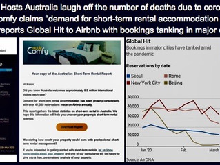 """AIRBNB BOOKINGS PLUNGE AMID CARONAVIRUS PANDEMIC"""