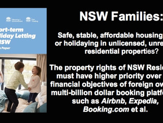MEDIA RELEASE:  OPTIONS PAPER FOR SHORT-TERM HOLIDAY LETTING IN NSW