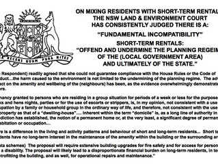 NSW GOVERNMENT GIFTS ALL HOUSING TO SHORT-TERM RENTAL PLATFORMS