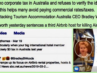 NSW STATE ELECTIONS:  SEEMS THE GREENS ALSO MARCH TO THE BEAT OF AIRBNB'S DRUM
