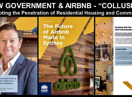 AIRBNB & NSW GOVERNMENT - ETHICS plus TRUTH EXIT STAGE LEFT