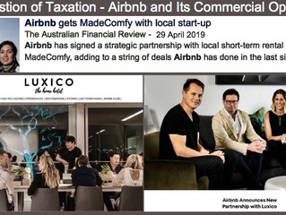 ON THE ISSUE OF TAXATION…AIRBNB & ITS COMMERCIAL OPERATORS