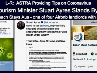 NSW TOURISM MINISTER STANDS BY AIRBNB