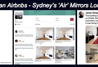 THERE ARE HUGE AIRBNB SCAMS ON THE STREETS OF LONDON…AND HERE IN SYDNEY