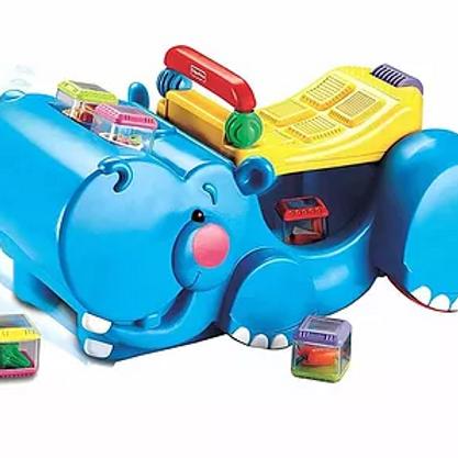 Apoiador Andador Traga Blocs -Hipopótamo Fisher-Price