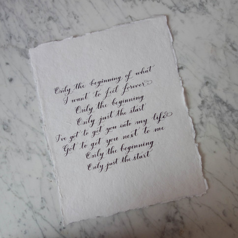 Calligraphy Song