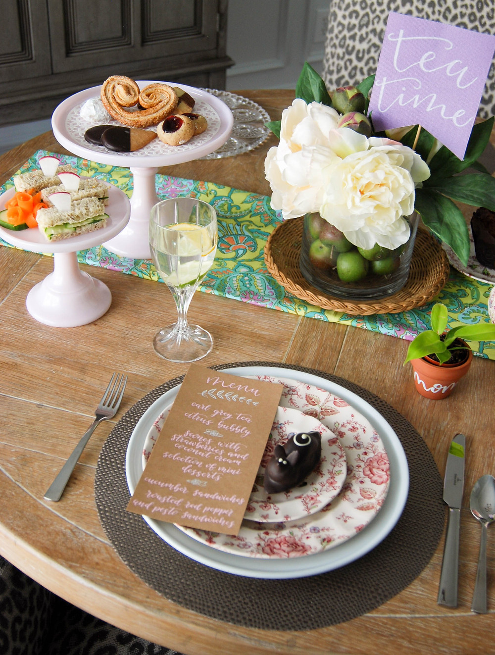 P.S. Calligraphy | Mother's Day Calligraphy Table Setting