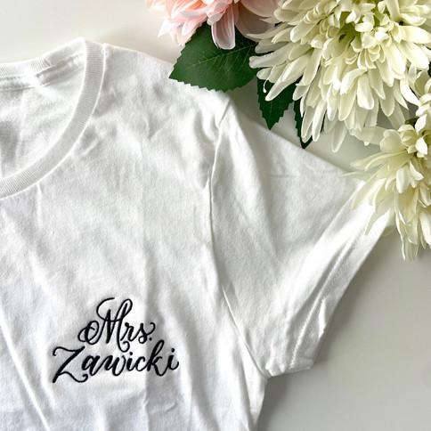Personalized Mrs. t-shirt