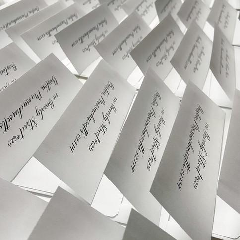 Modern Calligraphy Return Addressing