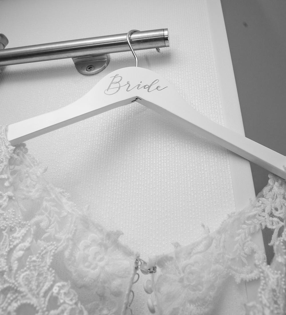 Wedding Dress Calligraphy Bride Hanger | P.S. Calligraphy