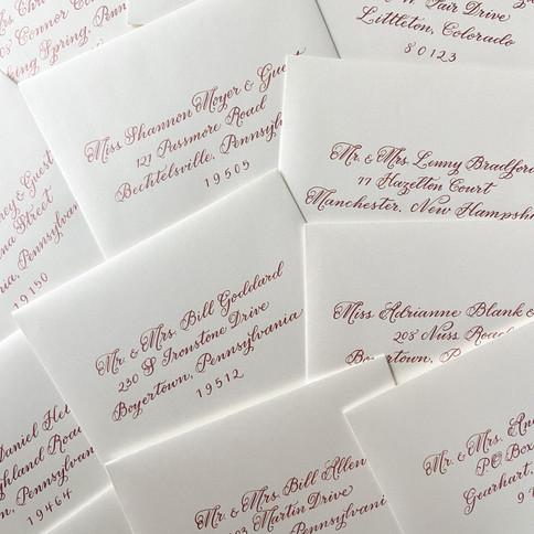 Rose Gold Envelope Addressing