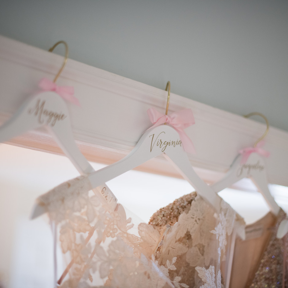 Personalized Bridal Party Dress Hangers