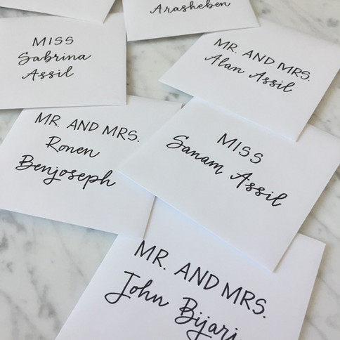 Monoline Calligraphy Mini Envelopes