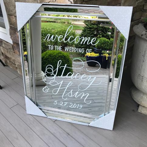 Wedding Welcome Calligraphy Sign