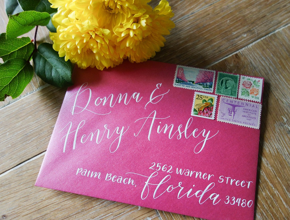 Fun Calligraphy Envelope Adressing | P.S. Calligraphy