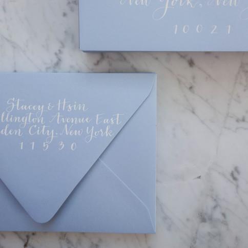 Baby Blue Wedding Envelopes