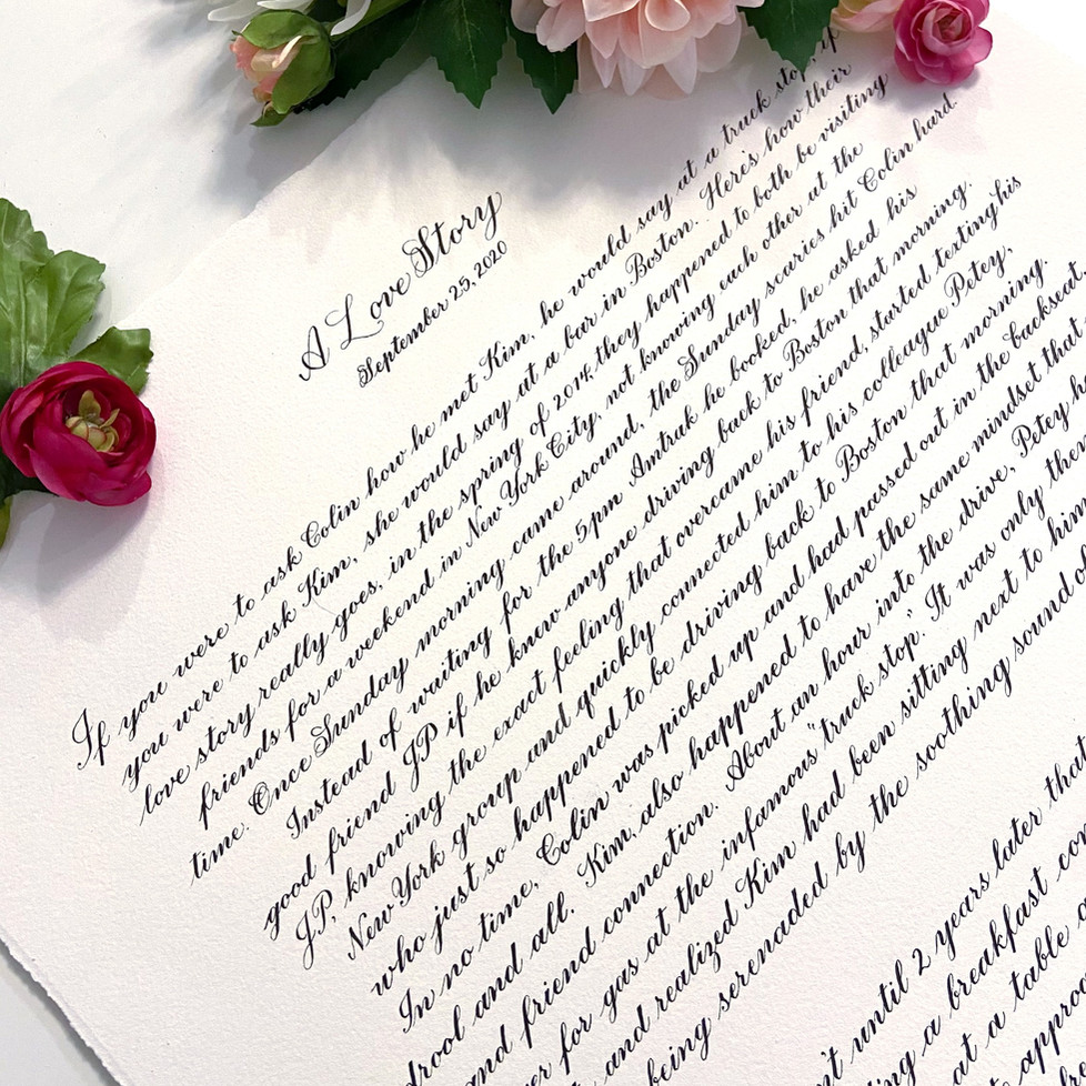 Calligraphy Love Story