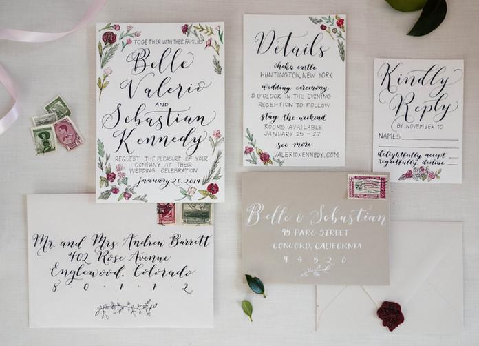 A Winter Wedding Invitation Suite